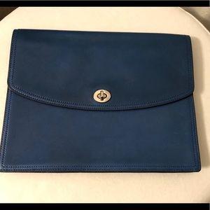 Coach Clutch Document iPad case leather - blue